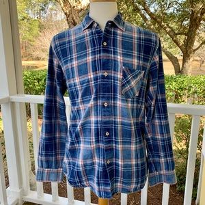 Cooper Jones blue Plaid Flannel Shirt. Large
